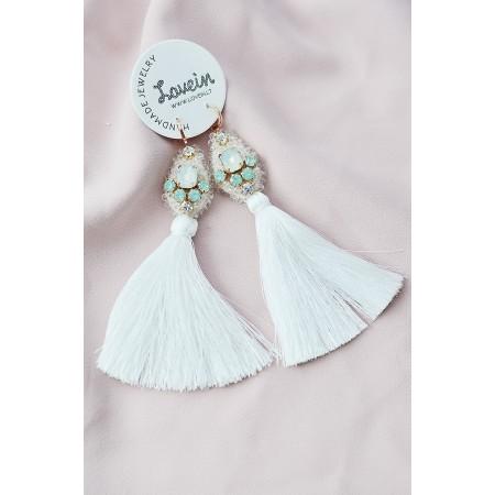Vestuviniai auskarai su kutais