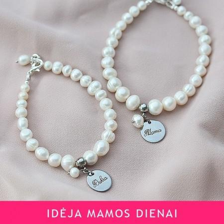 Perlų apyrankės MAMA DUKRA | Mamos dienos dovana