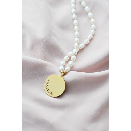Klasikinis perlų vėrinys su graviravimu