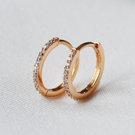 Aukso spalvos auskarai
