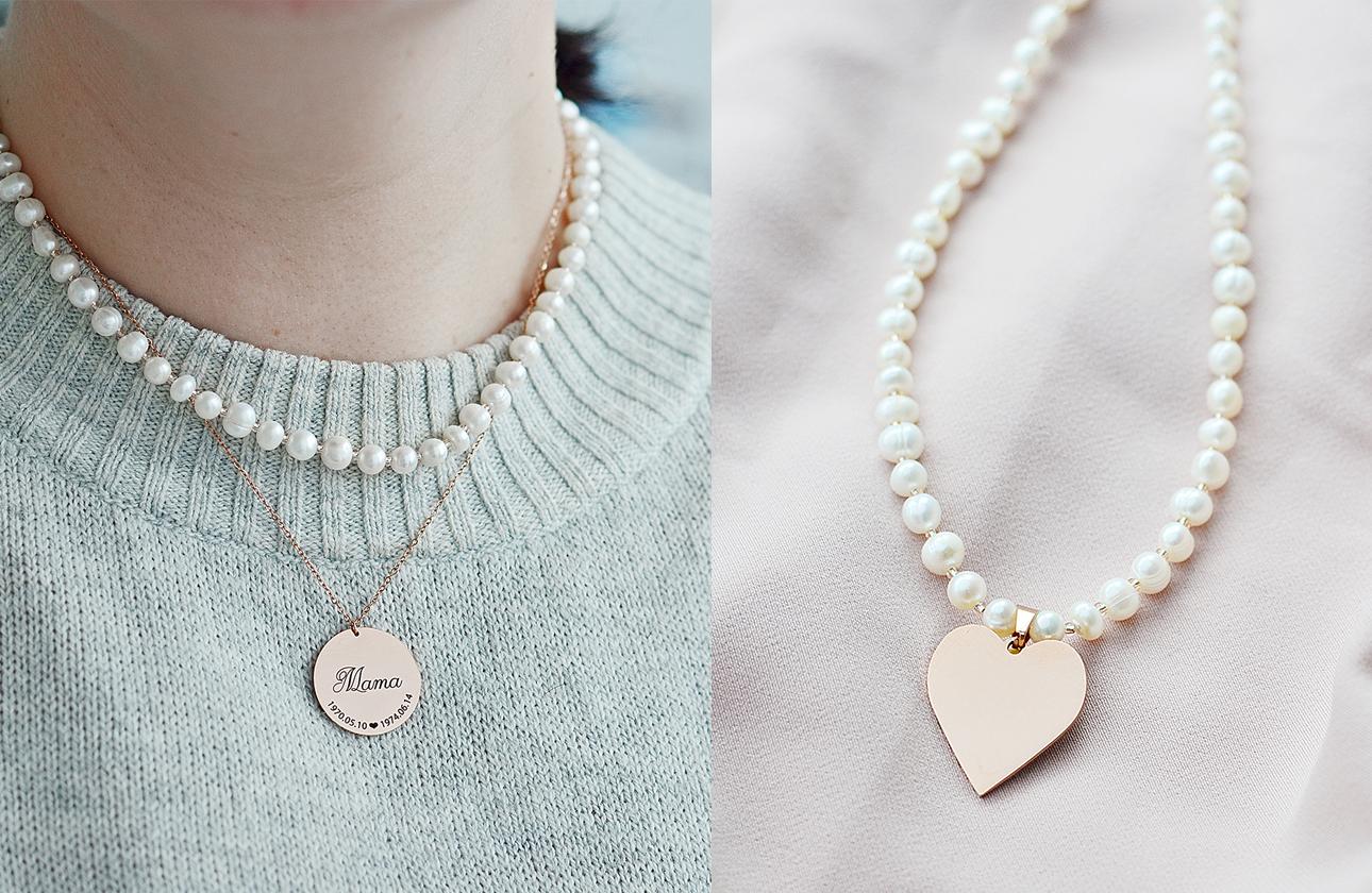 Dovanos idėja mamai mėgstančiai klasiką - perlų vėrinys